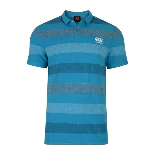 Canterbury Jacquard Polo Shirt - Atomic Blue