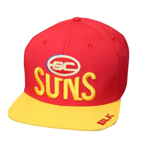 BLK Sport Gold Coast Suns On Field Flat Cap 2017