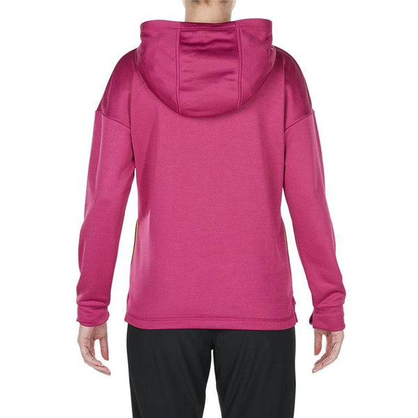 Ladies Vapodri Fleece OH Hoody - Fuchsia Red Marl