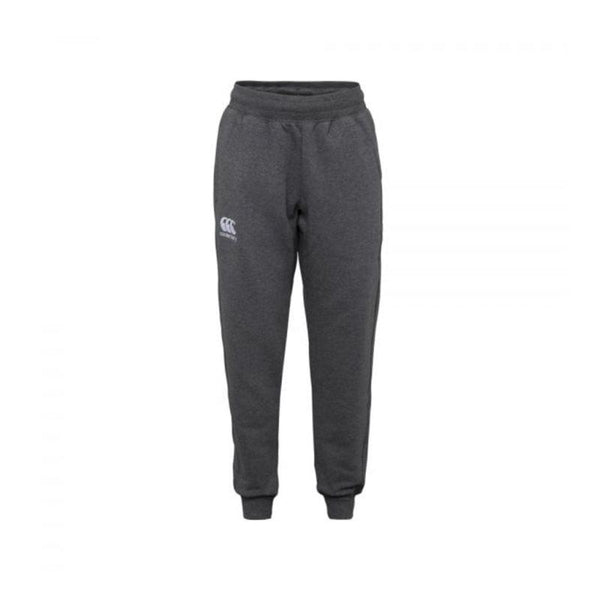 Canterbury Kids Tapered Cuffed Fleece Pant - Charcoal Marl