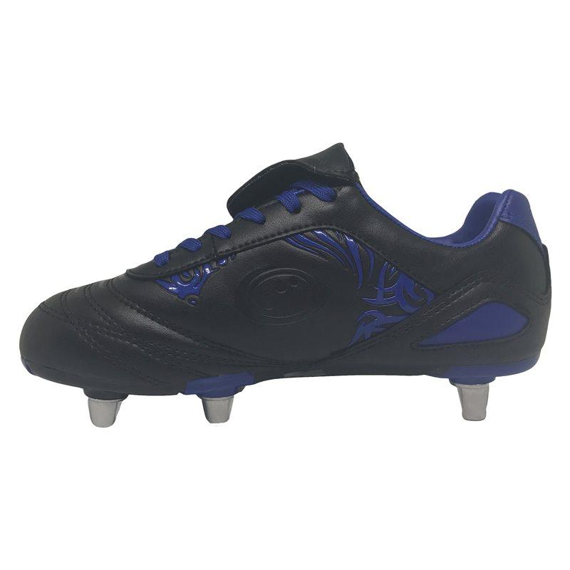 Kids Razor Rugby Boots - Black/Blue