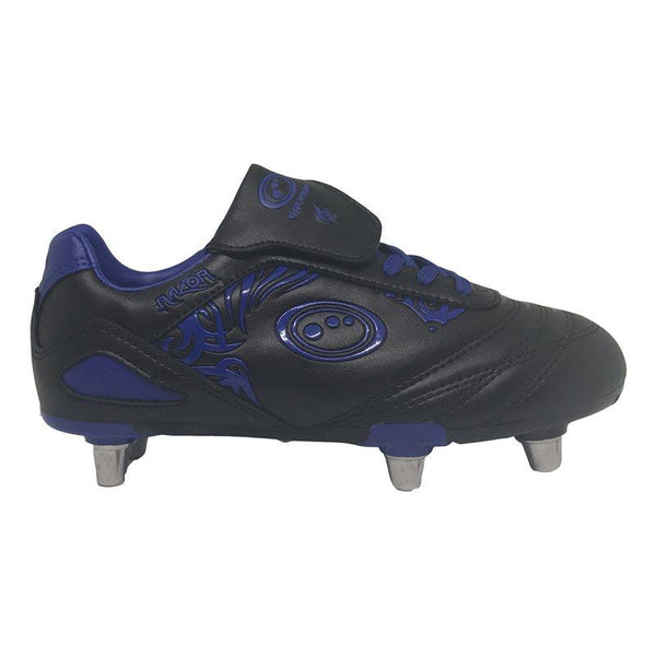 Optimum Kids Razor Rugby Boots - Black/Blue