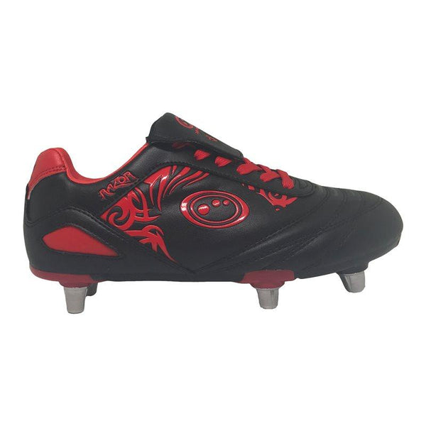 Optimum Kids Razor Rugby Boots - Black/Red