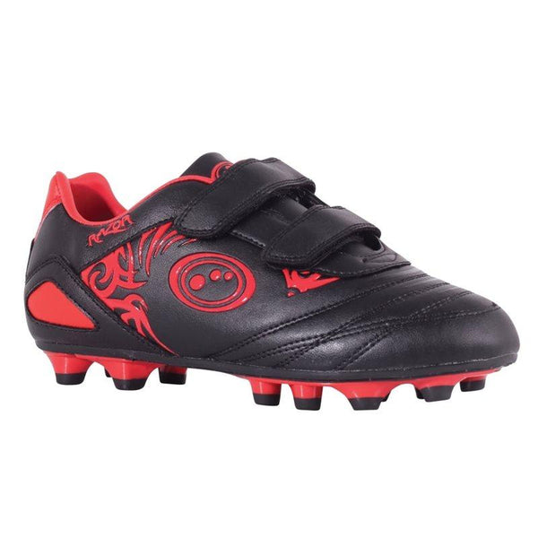 Optimum Kids Razor Velro FG Football Boots - Black/Red