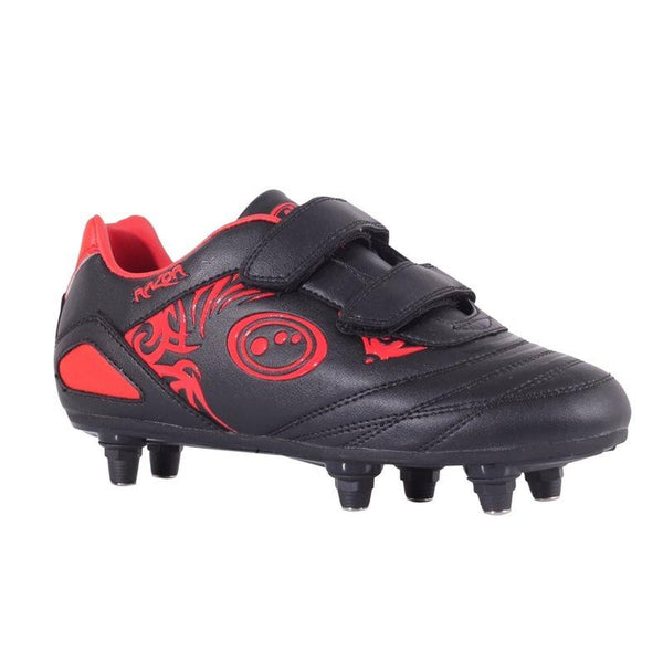 Optimum Kids Razor Velro SG Football Boots - Black/Red