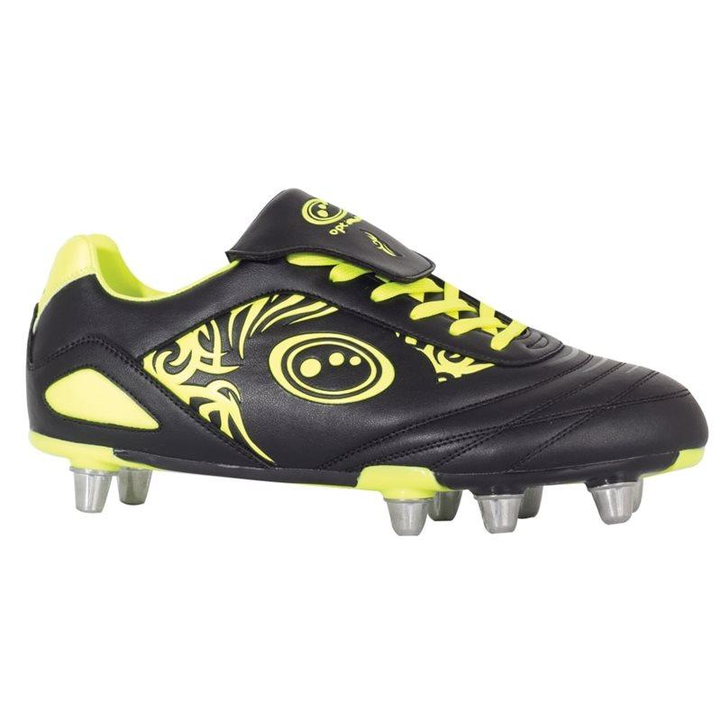 Razor Rugby Boots - Black/Fluo Yellow