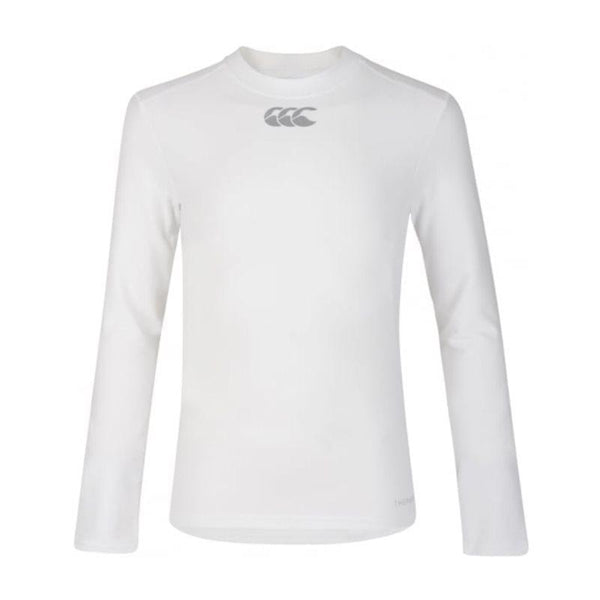 Canterbury Thermoreg Long Sleeve Kids Baselayer Top - White