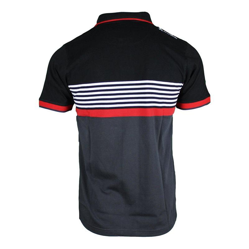 Ulster Rugby Athletic Fit Yarn Dye Polo 17/18 - Black