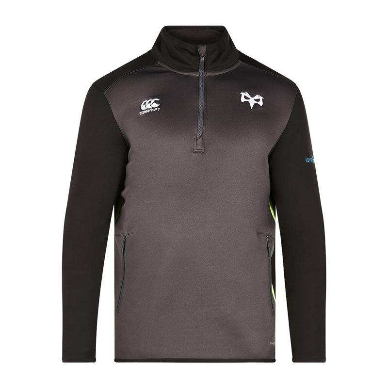 Ospreys Rugby Thermoreg QZ Top 17/18 - Nine Iron