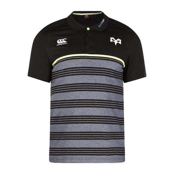 Canterbury Ospreys Rugby Cotton Jersey Stripe Polo 17/18 - Tap Shoe