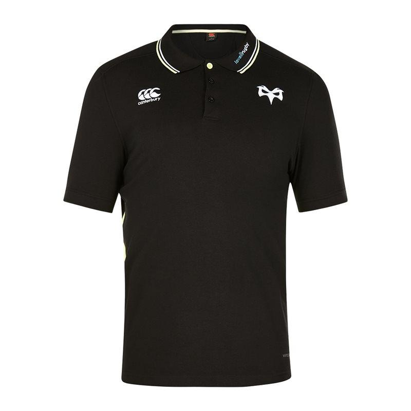 Ospreys Rugby Vapodri Cotton Pique Polo 17/18 - Tap Shoe