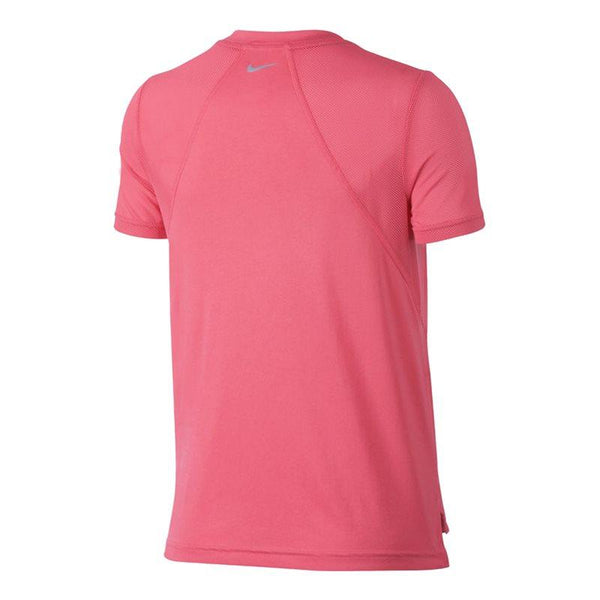 Ladies Miler Short-Sleeve Running Top - Sea Coral