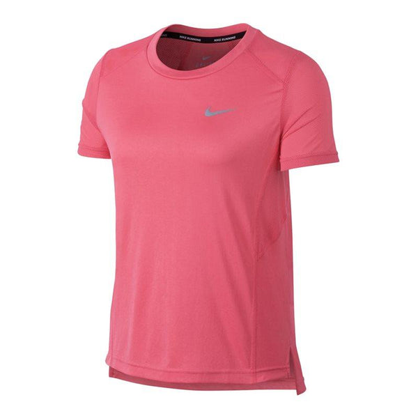Nike Ladies Miler Short-Sleeve Running Top - Sea Coral