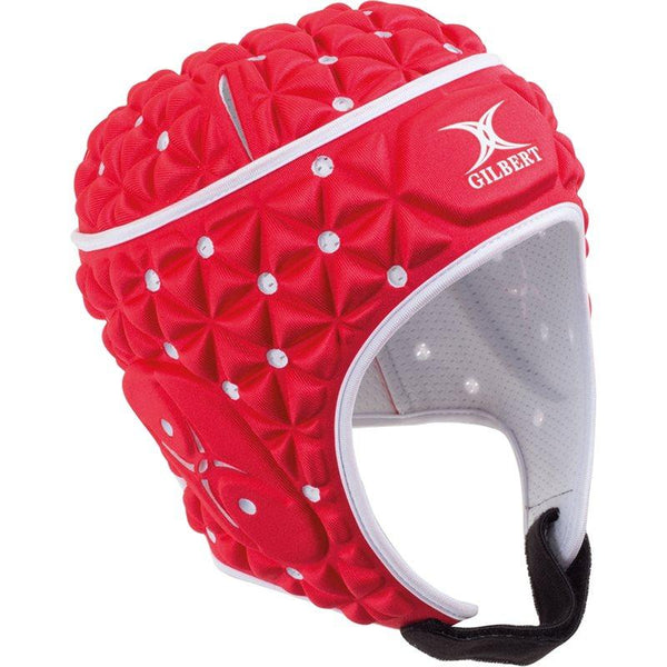 Gilbert Falcon Rugby Headguard - Red