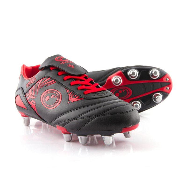 Optimum Razor Rugby Boots - Black/Red