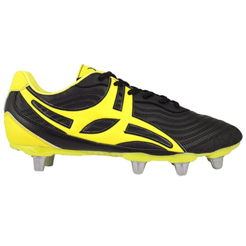 Side Step V1 LO8S Rugby Boots - Black/Yellow