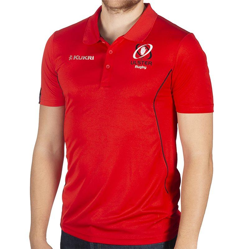Ulster Rugby 18 Performance Athletic Fit Polo - Red