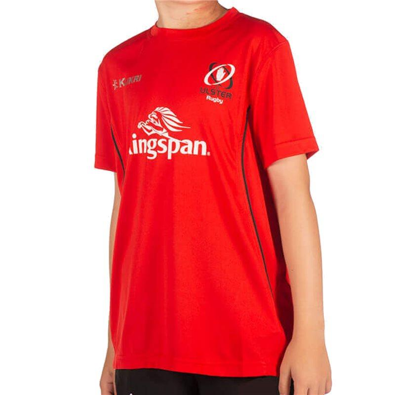 Ulster Rugby 18 Performance Athletic Fit Junior T-shirt - Red