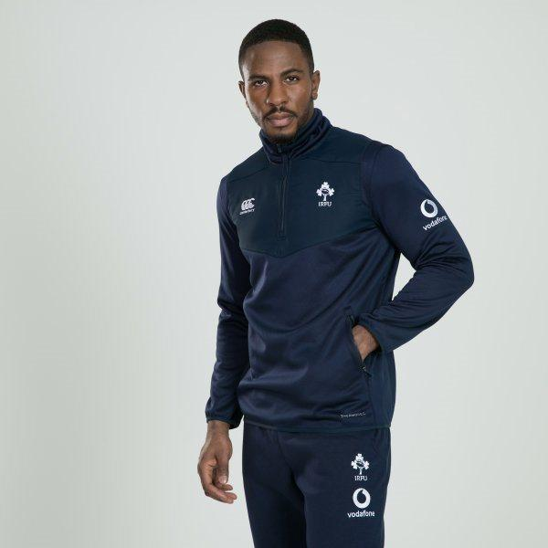 Ireland Rugby Thermoreg 1/4 Zip Top - Navy