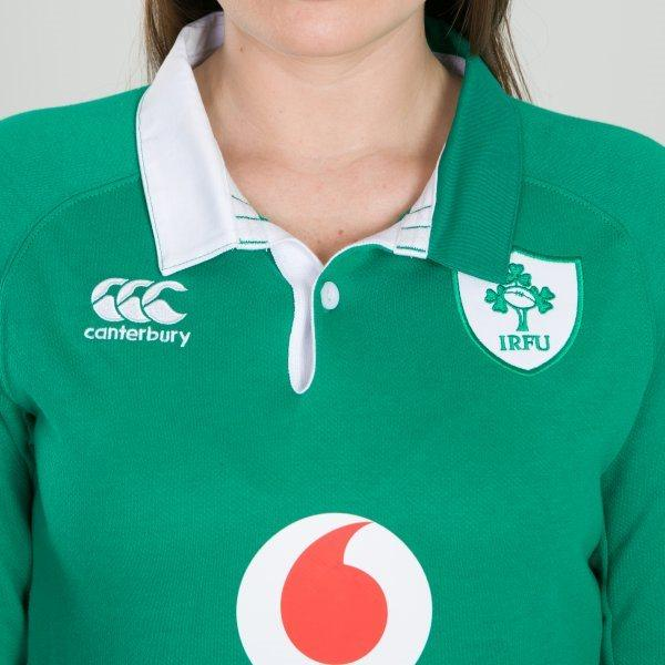 Ireland Rugby Vapodri LS Ladies Home Jersey - Bosphorus