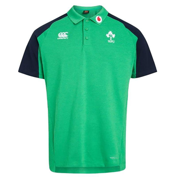 Canterbury Ireland Rugby Vapodri Cotton Pique Polo Shirt - Green Marl