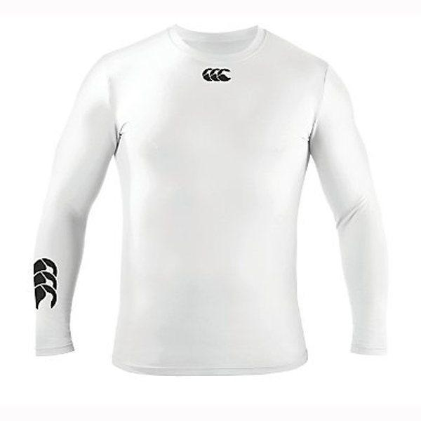 Canterbury Cold Long Sleeve Kids Baselayer - White