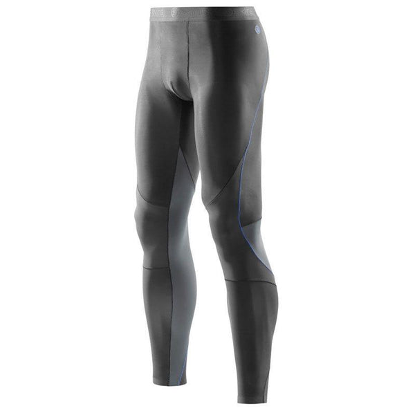 Skins RY400 Mens Recovery Long Tights - Graphite/Blue