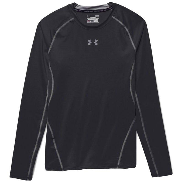 Under Armour ARMOUR HeatGear LS Compression Tee - Black/Steel
