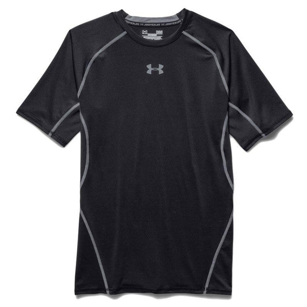 Under Armour ARMOUR HeatGear SS Compression Tee - Black/Steel