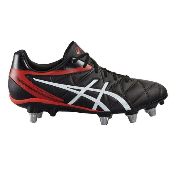 Asics Lethal Scrum Rugby Boots - Black/Black/Vermillion