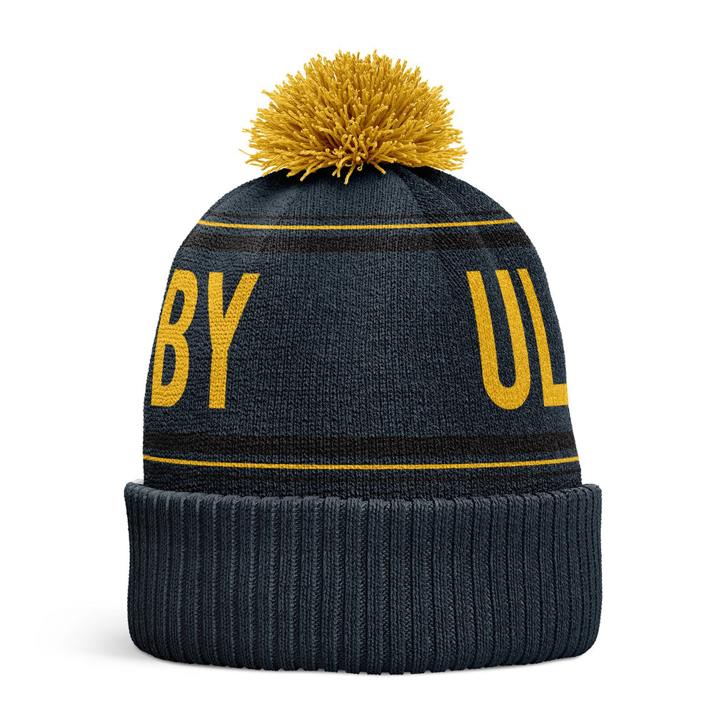 Ulster Rugby 2020/21 Bobble Hat 1 - Grey / Yellow