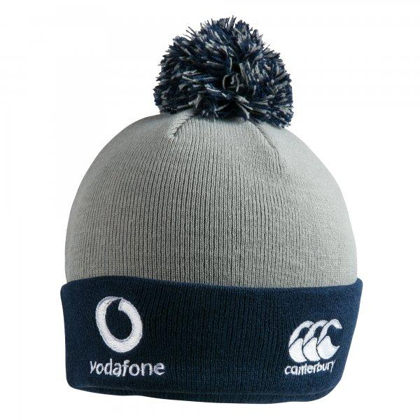 Ireland Rugby Acrylic Bobble Hat - Grey