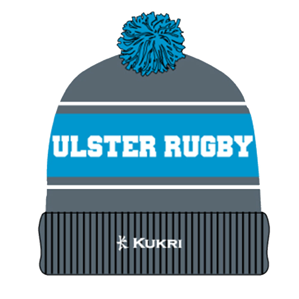 Ulster Rugby 2019 Grey / Blue Bobble Hat
