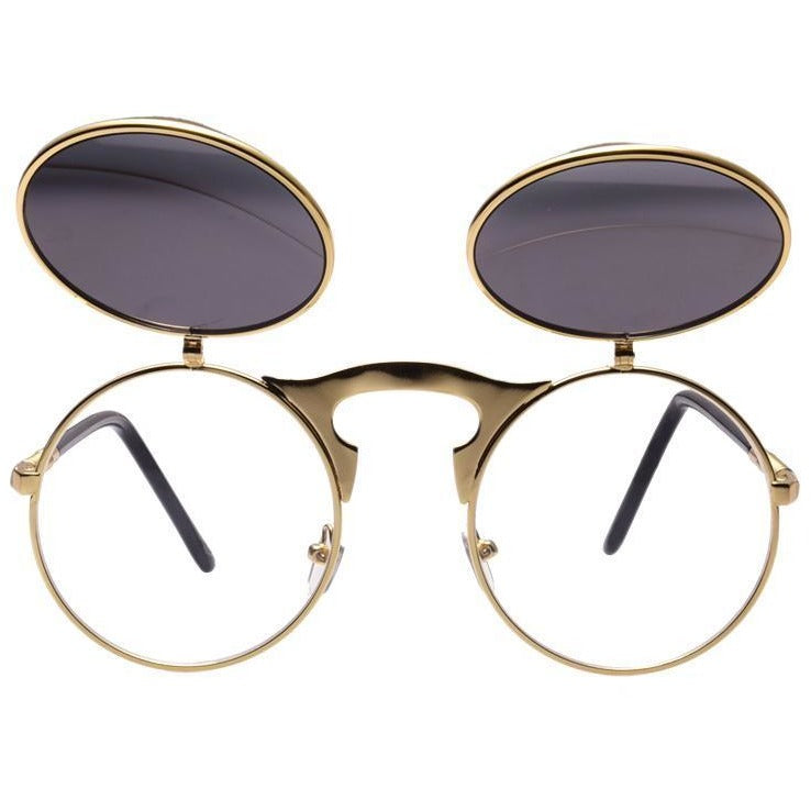 Steampunk Metal Sunglasses, Accessories - Batoo