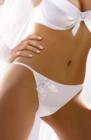 White satin bridal lingerie - knickers