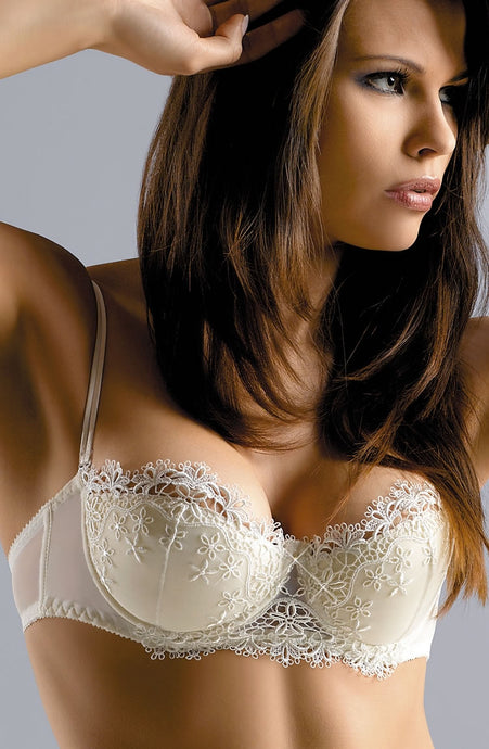 Cream wedding bra with Swarovski crystals - Bridal lingerie