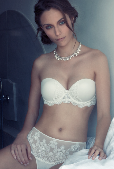 Strapless Bridal Bra with Italian Lace