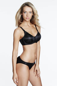 Everyday Seamless Minimizer Bra in Black