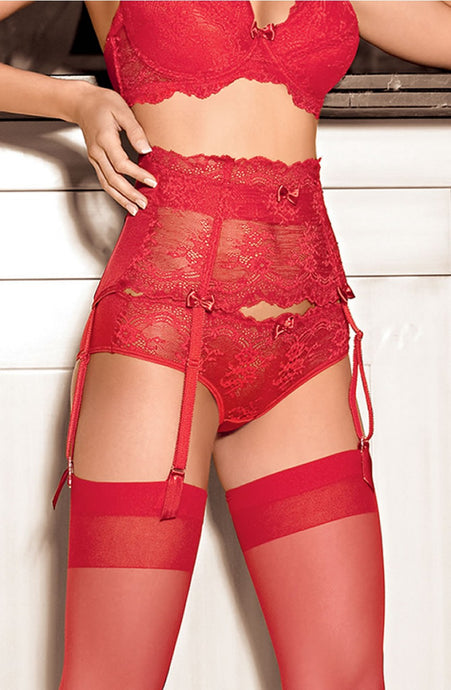 Red lace thong - g string - lingerie