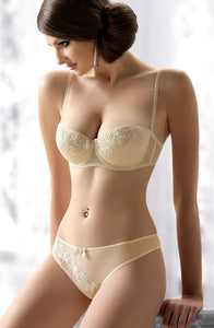 Cream wedding bra with detachable straps