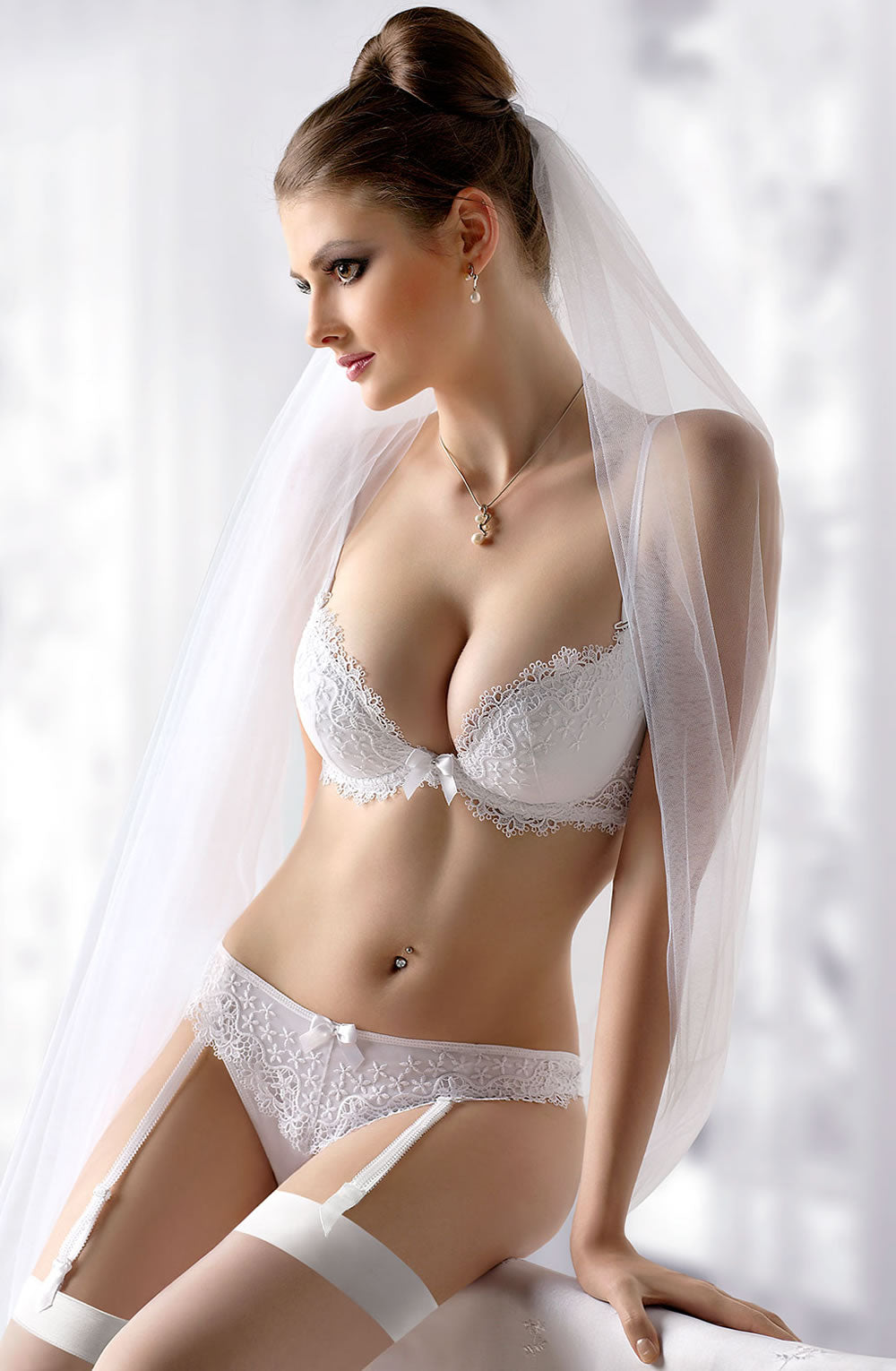 White padded bra - bridal lingerie