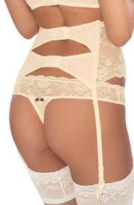 Fifi Suspender Belt in Cream