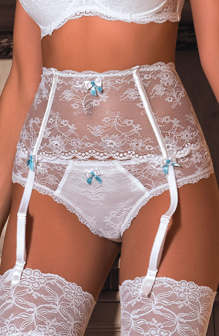 Fifi Suspender Belt in White