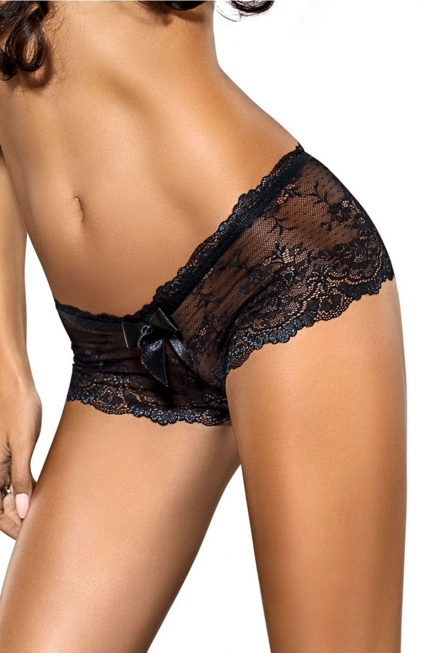 Mela French Knickers in Black