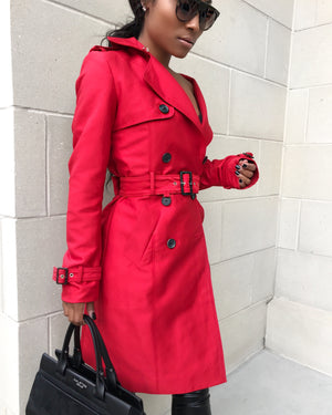 Candy Apple Red Trench