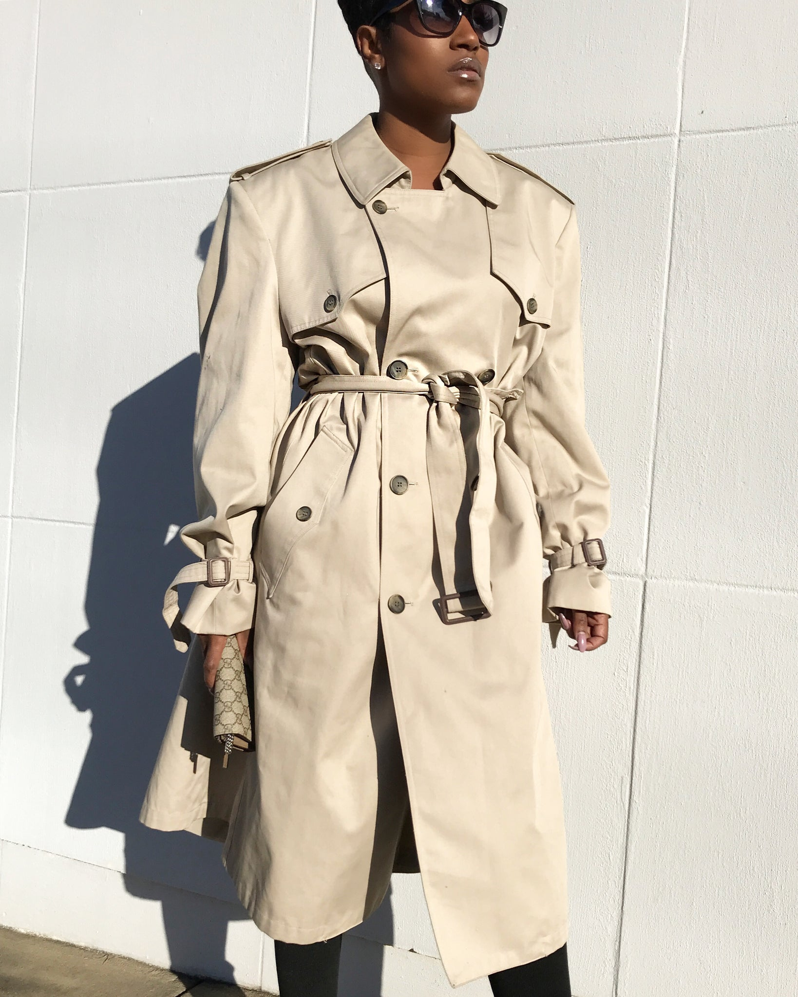 Structured Khaki Trench Coat