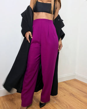 Magenta Trousers