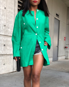 Kelly Green Button Up Jacket/Shirt