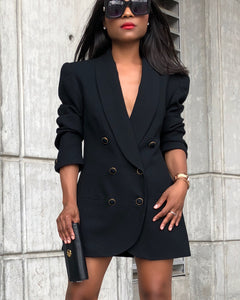 Chic Black Double/Breasted Blazer/Dress