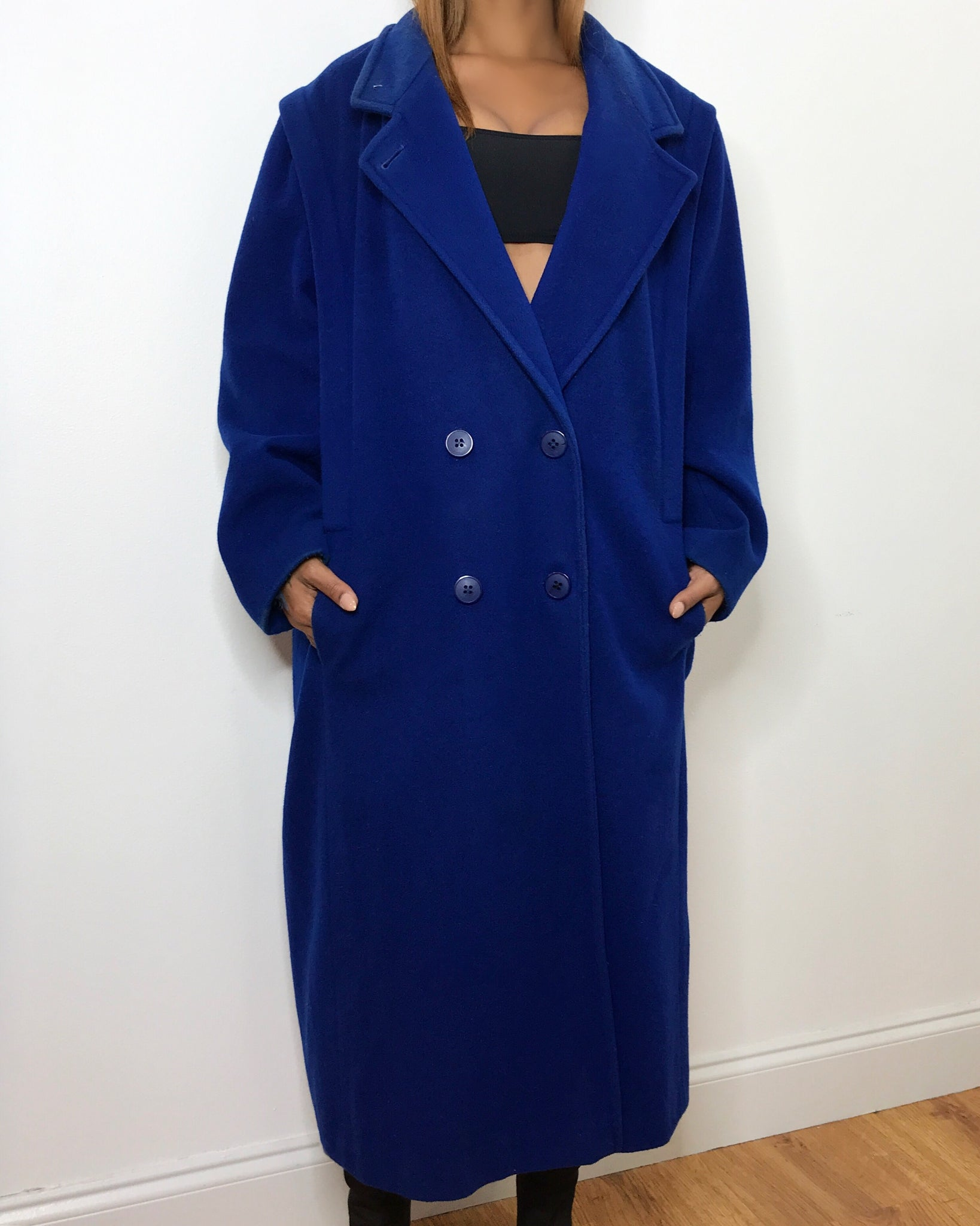 Blueberry 100% Wool Overcoat